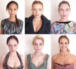 S lijeva na desno (prvi red): Joan Smalls, Lily Donaldson, Bianca Balti S lijeva na desno (drugi red): Coco Rocha, Jessica Stam, Elle Macpherson