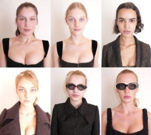 S lijeva na desno (prvi red): Laetitia Casta, Patricia van der Vliet, Hind Sahli S lijeva na desno (drugi red): Caroline Trentini, Bregje Heinen, Anne Vyalitsyna